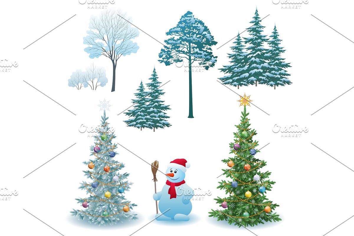 Christmas Holiday Set in Objects - product preview 8