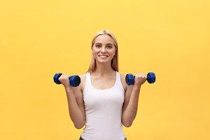 portrait of pretty sporty girl