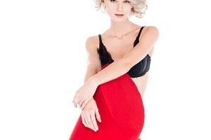Seductive beautiful woman in lingeri