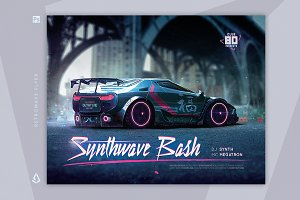 New Wave Flyer 2 Retrowave Synth Car