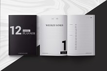 12 Weeks Planner InDesign Template by  in Stationery