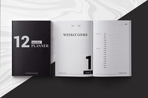 12 Weeks Planner InDesign Template