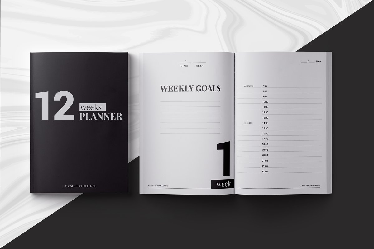 12 Weeks Planner Indesign Template Stationery Templates