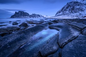 Seashore with stones