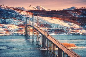 Beautiful bridge at sunset