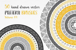 Hand Drawn Pattern Brushes Vol. 04