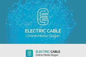 Electric E Letter Logo