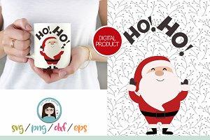 Santa HOHO Svg, PNG, DXF, EPS