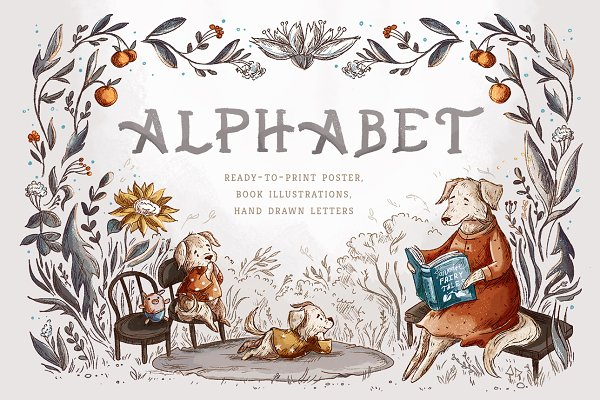 Illustrations and Illustration Products: Yeticrab - Alphabet Poster