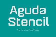 Aguda Stencil Font Family