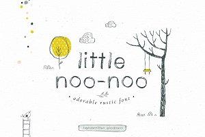 Little Noo-Noo rustic font