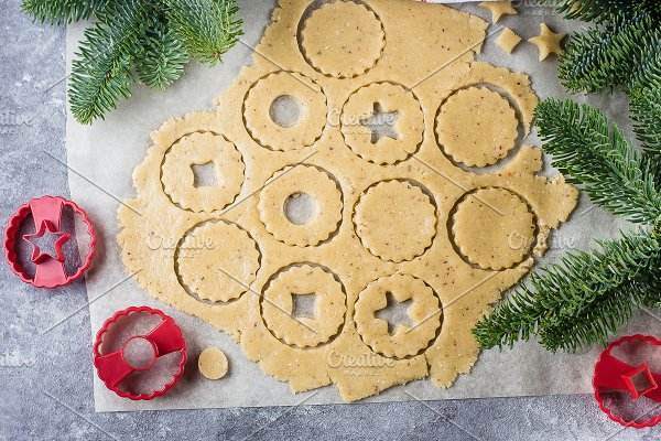 Process Traditional Christmas Cookie