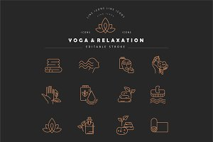 Icon collection for yoga & relax