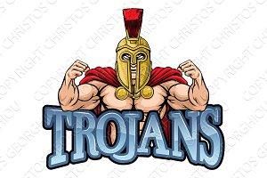 Trojan Spartan Sports Mascot