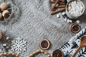 Cozy Holiday Treats Stock Photo