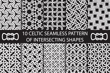 Celtic intersecting shapes patterns