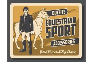 Horse and jockey of equestrian sport