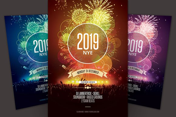 new year flyer flyers