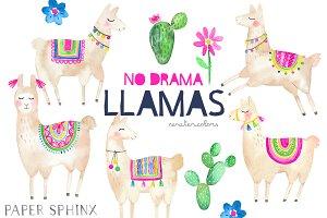 No Drama Llamas Clipart