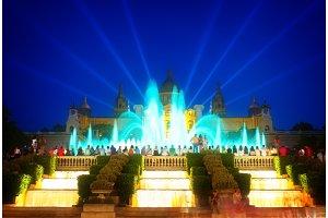 Magic Fountain light show, Barcelona