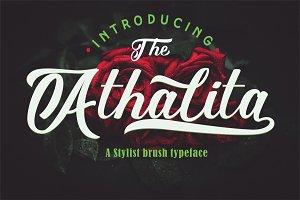 Athalita / Cool brush stylist Font