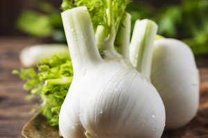 Raw fresh fennel