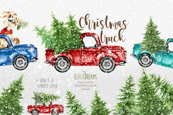 Christmas Trucks Collection