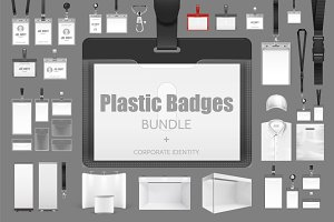 Plastic Badges Bundle