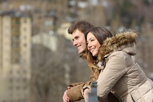 Couple sightseeing outdoors