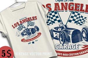 vintage race car print