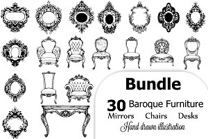 Vector Bundle 30 baroque furniture