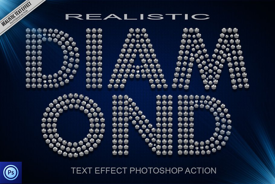 Diamond Text Effect Photoshop Action ~ Photoshop Add-Ons ~ Creative