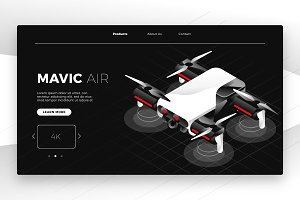 Drone - Banner & Landing Page