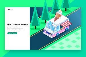 Ice Cream - Banner & Landing Page
