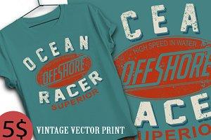 ocean off shore race print