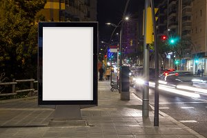Blank advertisement billboard mock u