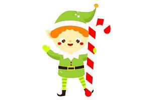 Cute Santa's helper elf
