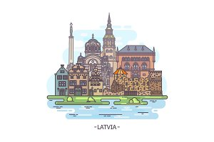 Latvian architecture buildings