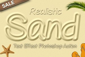 Sand Text Effect Photoshop Action