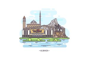 landmark buildings of Albania