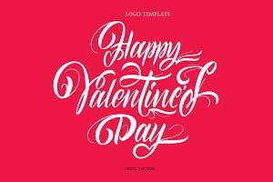 Valentine's Day Logo Template