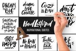 32 Hand lettered quotes