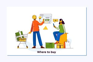 Online shopping. E commerce