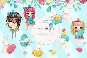 Funny Bunny Clip Art