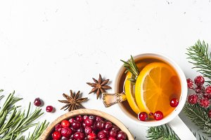 Christmas fruit tea from cranberry