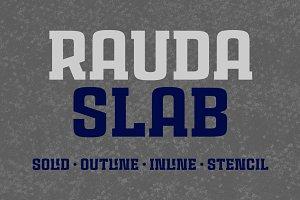 Rauda Slab Font Family
