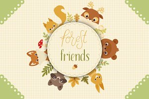Forest Friends. Animals and Plants
