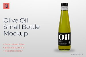 Olive oil - Small bottle mockup