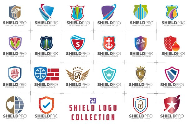 SALE! 29 Shield Logo Collection