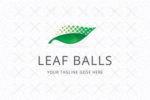 Leaf Balls Logo Template